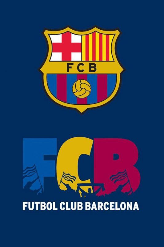 Ręcznik - FC Barcelona - wzór 2