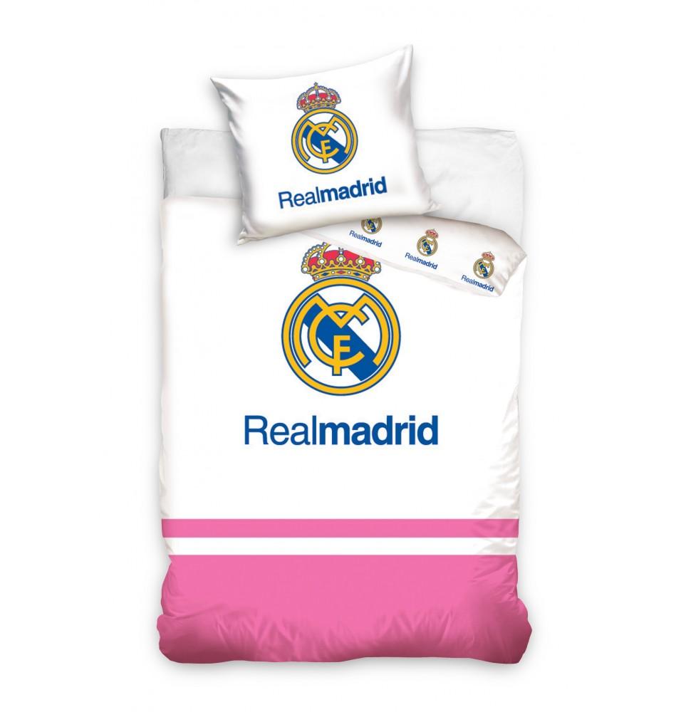 Pościel - Real Madrid - różowy pasek